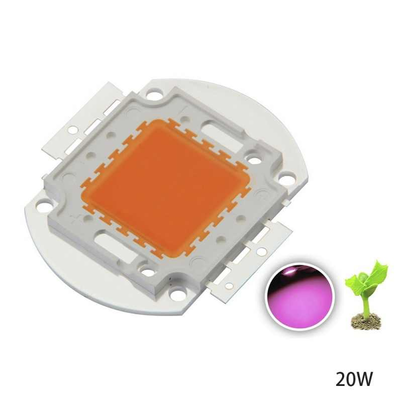 High Power LED Chip Full Spectrum Grow Light Lamp 20W 10W  30W 50W 100W 380nm - 840nm COB Beads for Indoor Plant Growth 2018