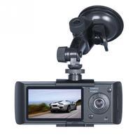 Camera Car DVR R300 with GPS and 3D G Sensor LCD X3000 Cam Video Camcorder Cycle Recording Digital Zoom Dash Cam Dual Lens dfdf