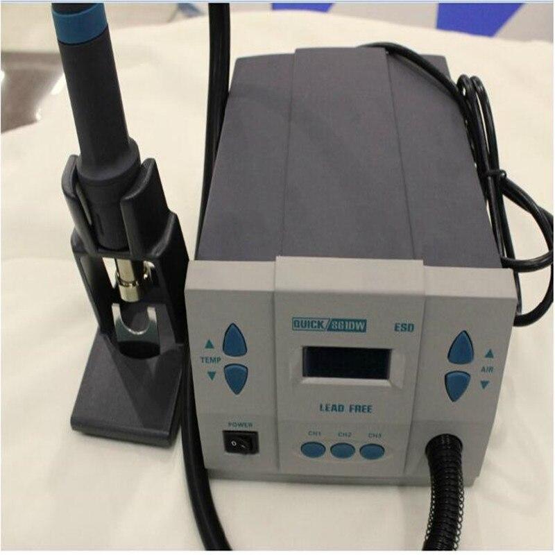 1000W 220V Original QUICK 861DW heat gun lead-free hot air soldering station microcomputer temperature Hot Air Rework Station
