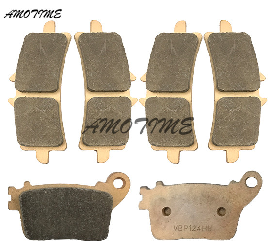 Motorcycle Parts Copper Based Sintered Motor Front & Rear Brake Pads For Suzuki GSXR600 750 2011-2014 L1 L2 L3 L4 motorcycle parts front brake pads kit for suzuki gsx1300 2013 2015 rgsxr 600 gsxr 750 l1 2011 copper based sintered