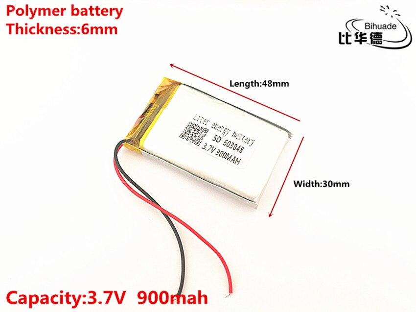 Power Bank Der GüNstigste Preis Liter Energie Batterie 603048 3,7 V 900 Mah 563048 603050 Polymer Lithium-ion/li-ion Batterie Für Spielzeug Mp3 Mp4 Gps