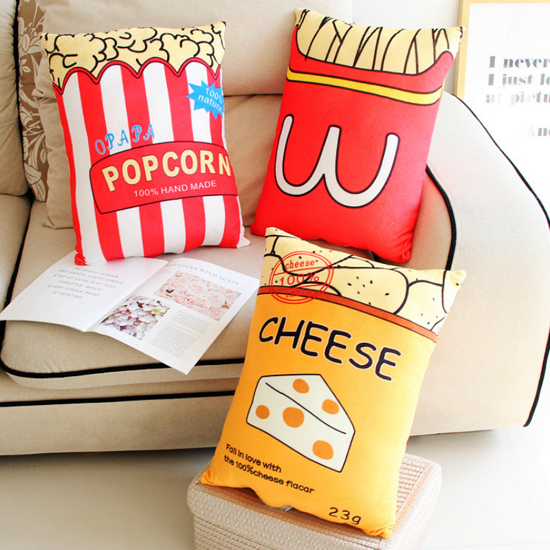 Fashion Style Like Real Food Pillow Plush Coffee Milk Tomato Bread Pan Fruit Red Wine Breakfast Creative Chair Home Sofa Bed Decor Pillow Toys & Hobbies