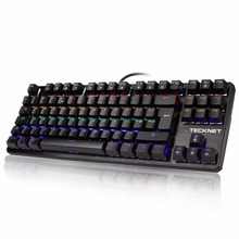TeckNet Mecánica Teclado 88 Teclas Completo Anti-ghosting Gaming Impermeable Teclado Panel De Aluminio Del Metal para Los Jugadores y Mecanógrafos