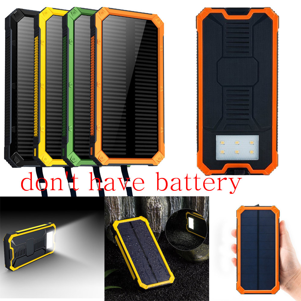 2018 Brand 2018 LED Dual USB Ports Solar Panel Power Bank Case Charger DIY Kits Box for Samsung S8 for Xiaomi Power Bank Kit