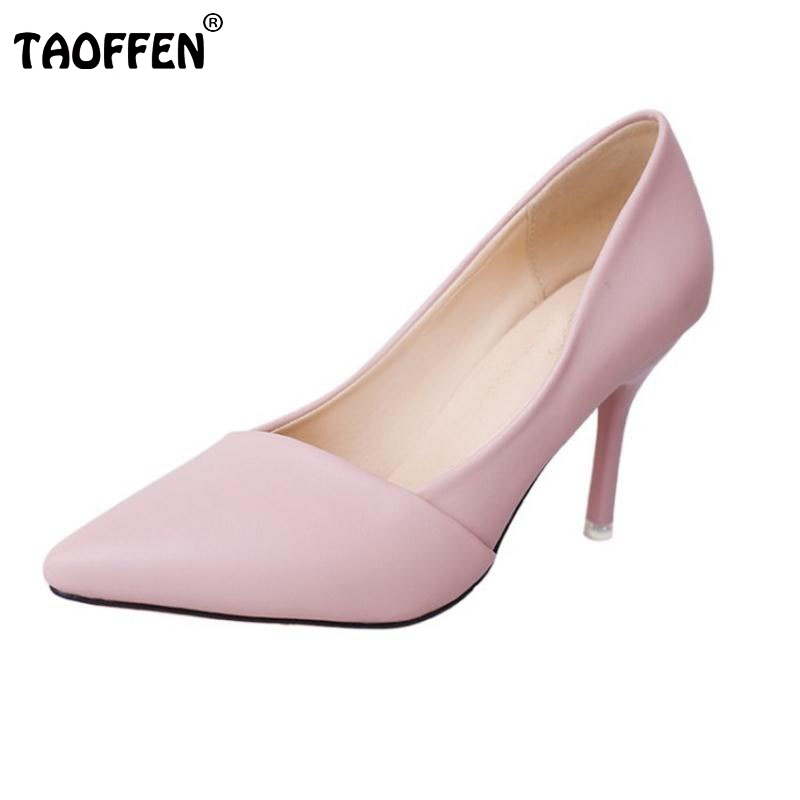 Lady High Heel Shoes Women Solid Color Thin Heels Pumps Pointed Toe Office Club Party Wedding Shoe Vacation Footwears Size 34-39 2017 new fashion brand spring shoes large size crystal pointed toe kid suede thick heel women pumps party sweet office lady shoe