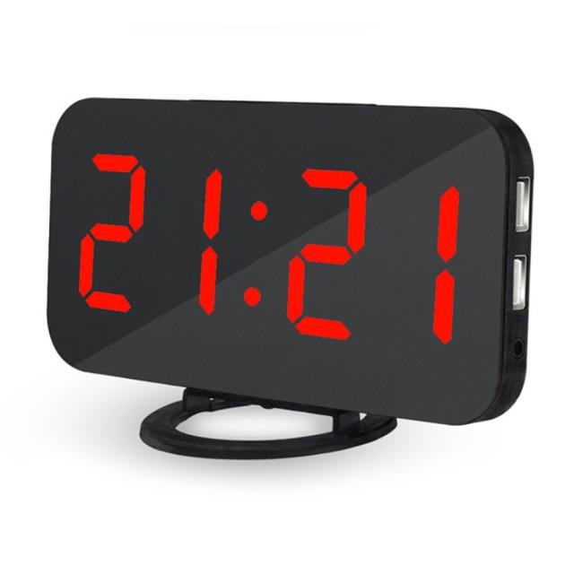 New Arrival Creative LED Digital Alarm Table Clock Brightness Adjustable For Home Office Hotel Wall Clock Z30
