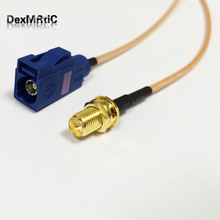 GPS antenna extension cable adapter RP SMA female with male pin to Fakra C female jack RF cable RG316 15cm 6inch wholesale NEW