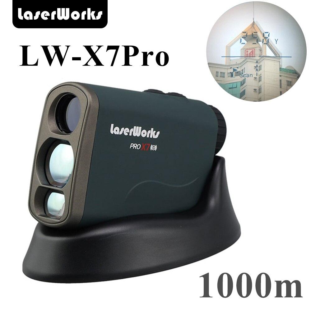 LaserWorks 600 1000 1500 meter Laser Rangefinder 8 Pro mode for hunting golf engineering