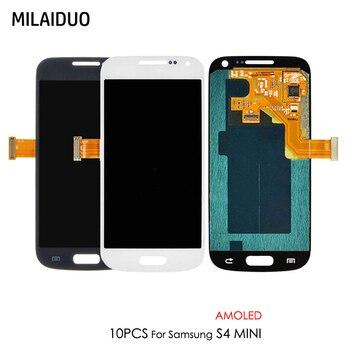 35be0fce13b 10 piezas Super AMOLED para Samsung Galaxy S4 Mini I9190 I9192 I9195 pantalla  LCD de pantalla táctil digitalizador Asamblea