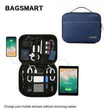 Bagsmart Waterproof Electronic Accessories Travel Organizer Bag Men Cable Travel