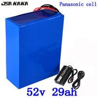 52 V 52 v 30ah bateria de lítio bicicleta elétrica da bateria 51.8 V bateria de iões de lítio 29AH use panasonic celular com 58.8 V carregador 5A