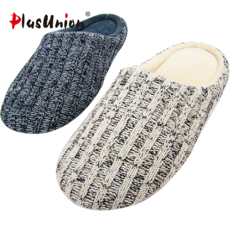 New-Arrival-Men-Home-Slippers-Shoes-Solid-Winter-Woolen-Wrap-Toe-Footwear-England-Style-Home-Shoes
