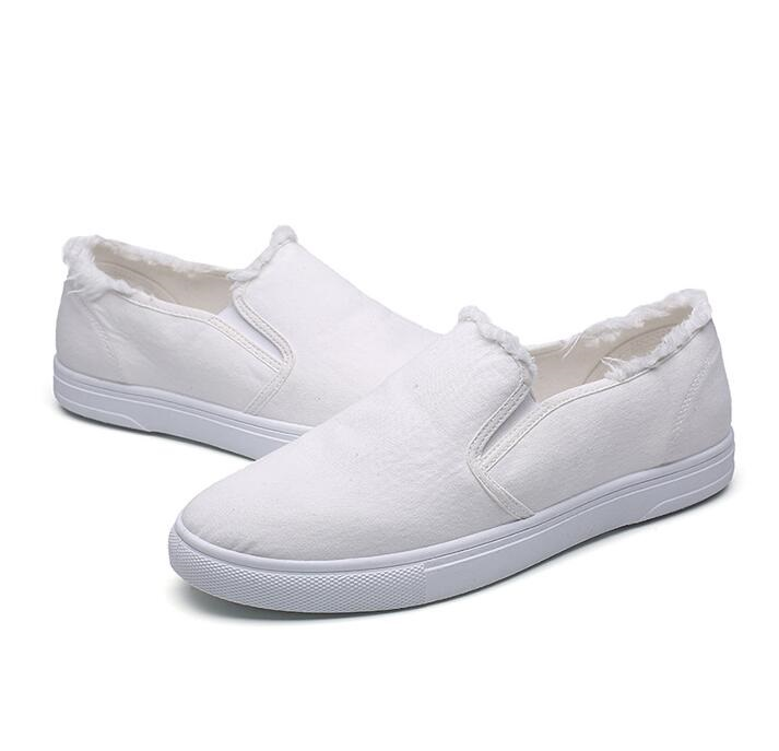 New Men shoes spring summer mens canvas shoes casual fashion student Breathable male flat shoes Low help Slip-On men white shors