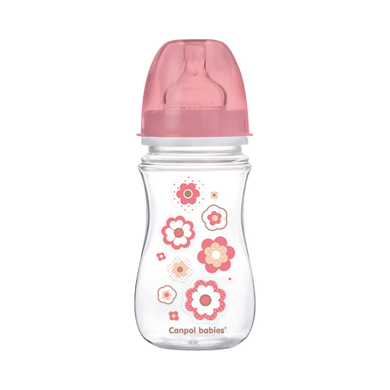Bottle PP EasyStart wide neck Anti-Colic, 240 ml, Color pink, 3+ Newborn baby feedkid