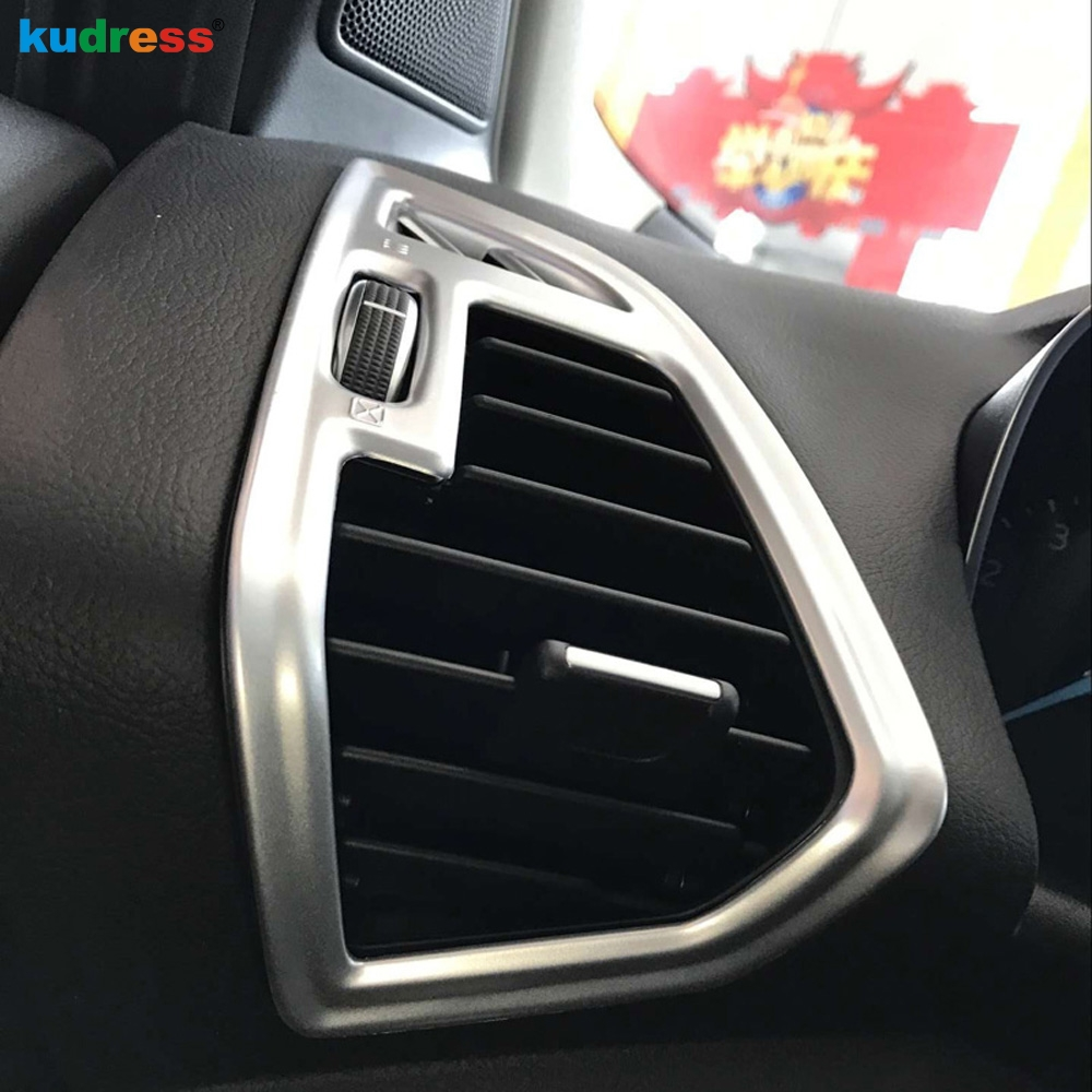 For Ford Kuga Escape 2017 2018 Matte ABS Air Vent Outlet Cover Trim Car A/C Air-condition Wind Out styling stickers accessories цена
