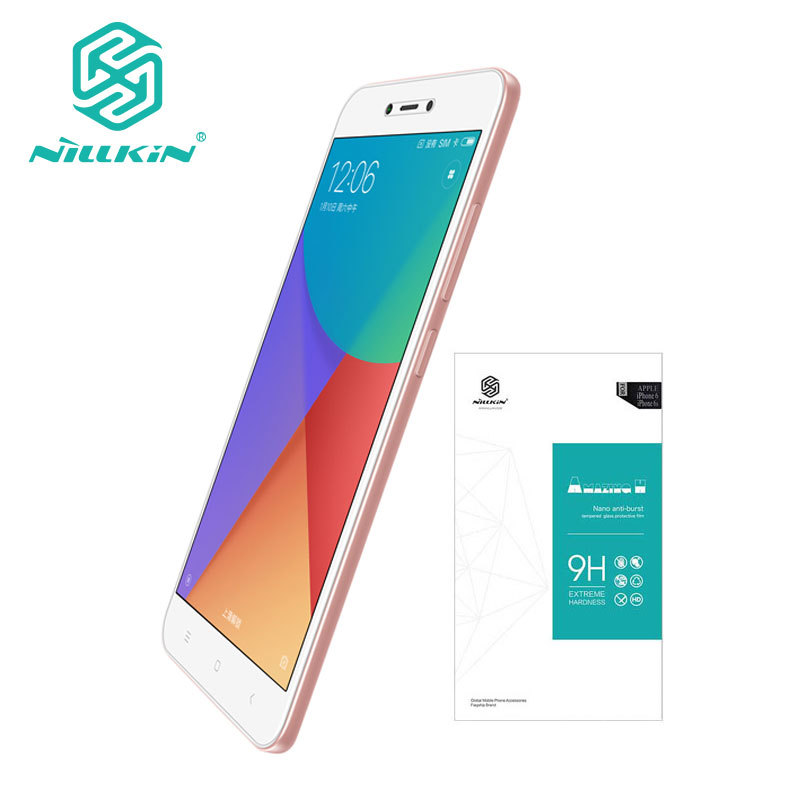 Xiaomi Redmi Hinweis 5A Gehärtetem Glas Redmi Hinweis 5A Glas Nillkin H 0,33mm Screen Protector Für Y1 Lite 5,5 zoll