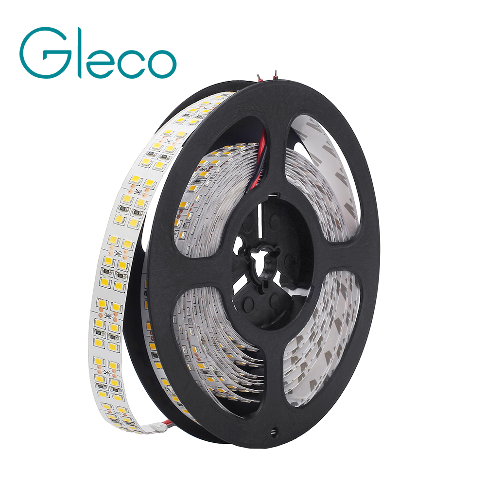DC12V LED Strip 2835 SMD Double Row 240LEDs/m 5M/lot IP20 IP67 Waterproof Flexible LED Strip Light 3528 White , Warm white