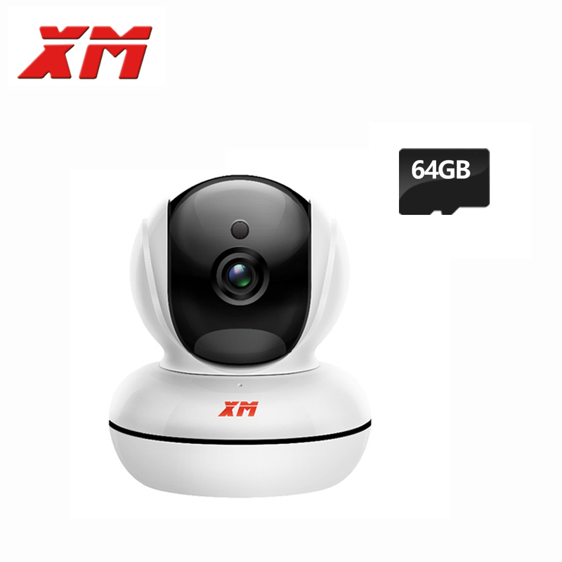 XM 1080P 2.0MP +64GB SD Card HD IP Camera Pan/Tilt Night Vision Security Camera with IR-Cut Wireless Wifi Baby Monitor hd 1080p pan