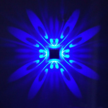 Creative LED Wall Light  1W 3W AC85-265V Butterfly Modern Light Fixture Luminous Lighting Sconce indoor Wall Decoration цены