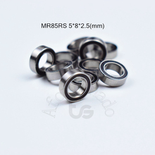 MR85RS 5*8*2.5(mm) 10pieces bearing rubber sealed free shipping ABEC-5 chrome steel miniature bearings  Transmission Parts