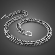 Vintage style Thai silver necklace paragraphs man domineering keel thick with exquisite process