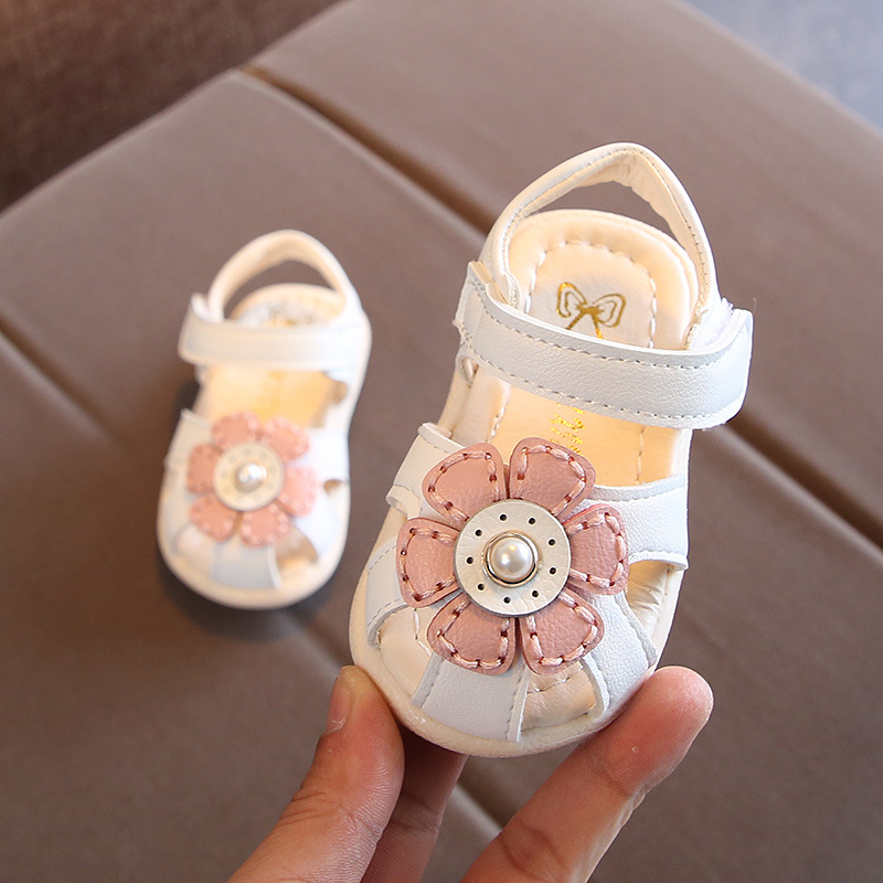 Baby Sandals Summer Girls Shoes Flower Kids Fashion Sandals Little Children Soft Bottom Toddler Shoes Cute Sandals
