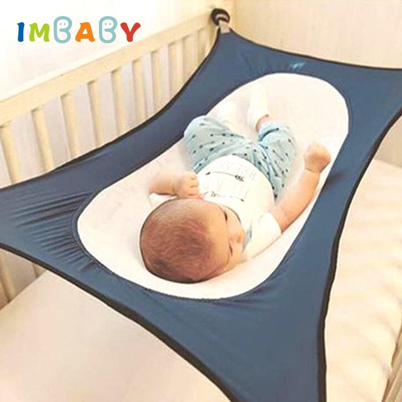 IMBABY Infant Baby Hängematte Für Newborn Kid Schlafen Bett Sicher Abnehmbare Babybett Krippe Elastische Hängematte Mit Einstellbare Net