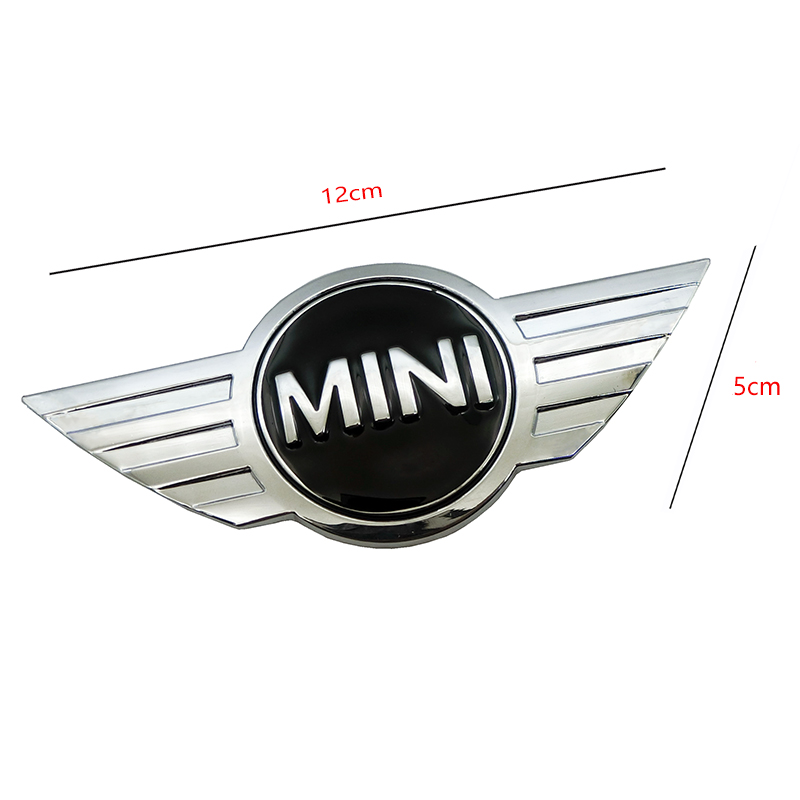 Image 4 - metal 3d MINI Car Badge Emblem logo Stickers For Mini Cooper CABRIO WORKS S Front head cover Rear head box Badge Decals Stickers-in Car Stickers from Automobiles & Motorcycles