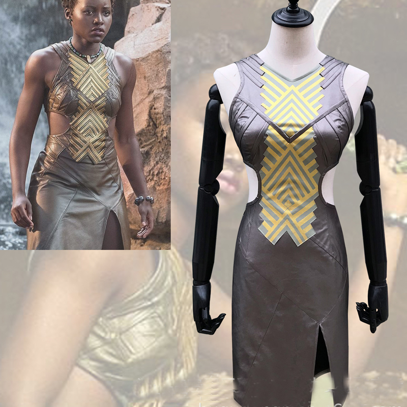Black Panther Cosplay Nagia Cosplay Costume Dress Adult Halloween Carnival Party Costume