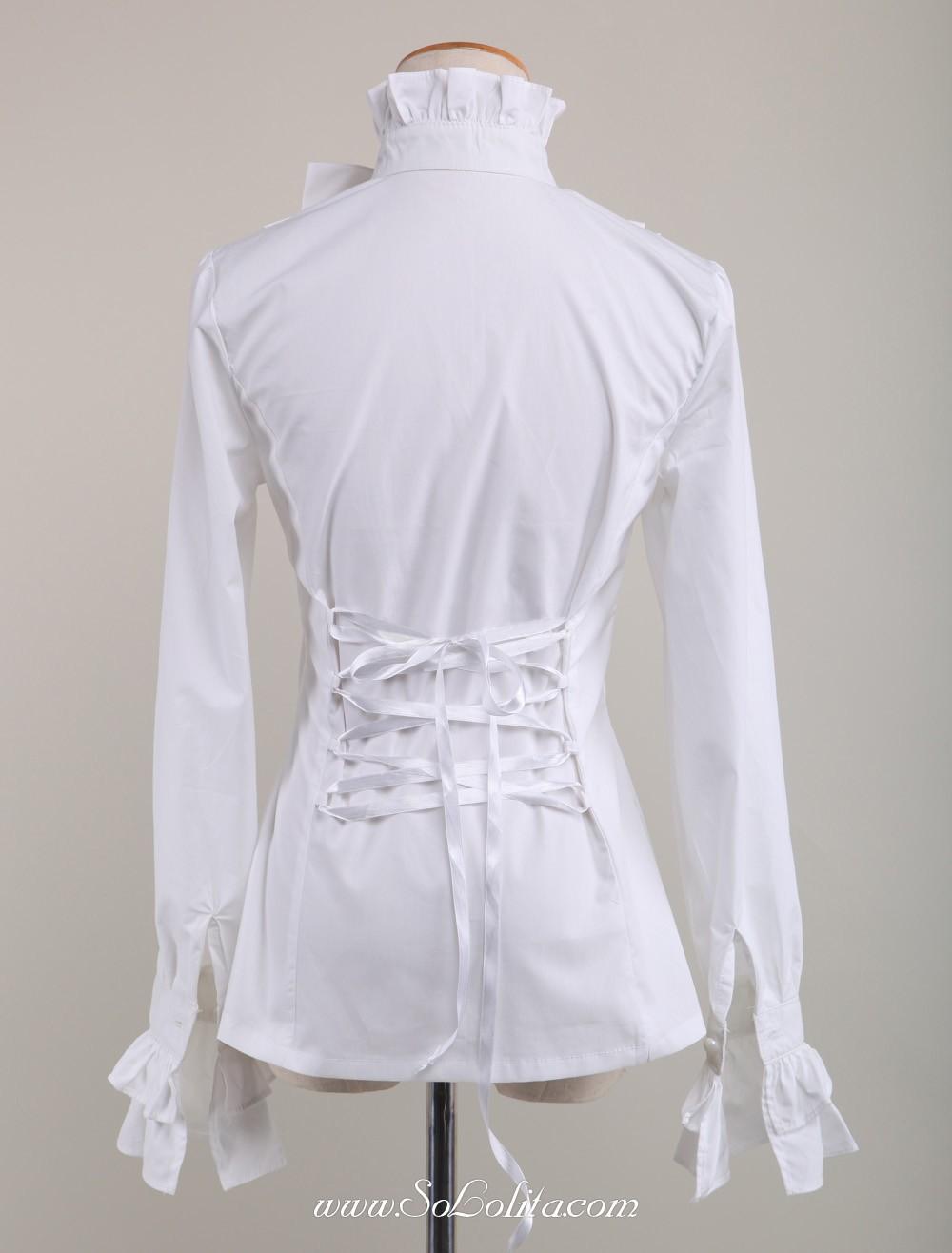 Lolita Corset Pur Kawaii Papillon Dame Noeud Blouse Blanc q1HwTq