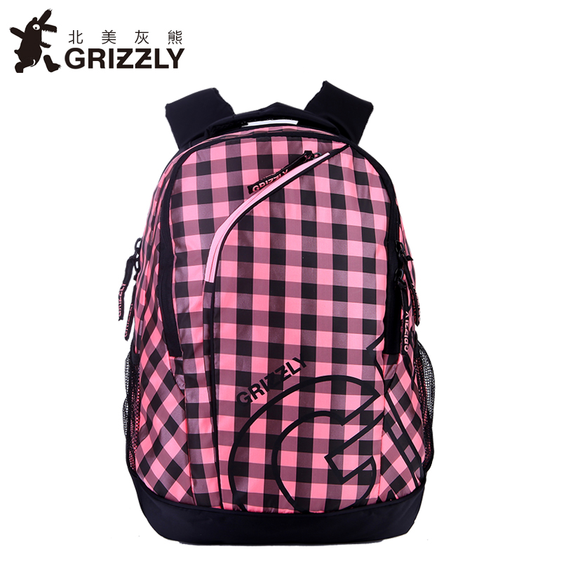 где купить GRIZZLY Fashion Printing Women Backpacks for Teenager Girls School Bags High Quality Casual School Mochila Waterproof Travel Bag по лучшей цене