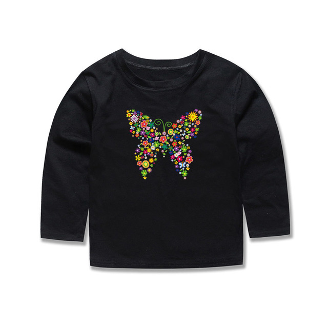 b7c64be99cad Phoebe Cat Baby Girls Long Sleeve Butterfly T Shirts Kids Animal T-Shirt  Tees miraculous ladybug Children Tops For 2-14 Years