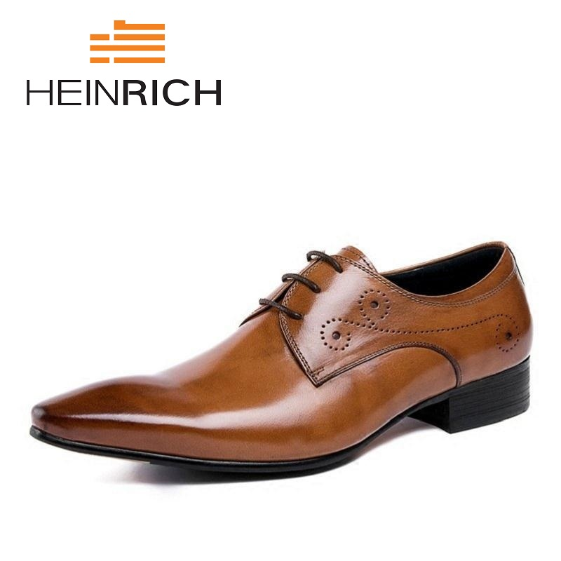 HEINRICH Formal Genuine Leather Men Shoes England Style Black Brown Wedding Pointed Toe Male Shoes Zapatos Charol HombreHEINRICH Formal Genuine Leather Men Shoes England Style Black Brown Wedding Pointed Toe Male Shoes Zapatos Charol Hombre