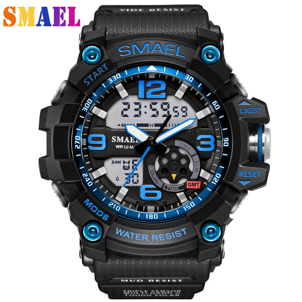 2017 New Men Watches Luxury Brand Multifunction Quartz Clock Digital LED Wristwatch Army Military Sport Watch relogio masculino