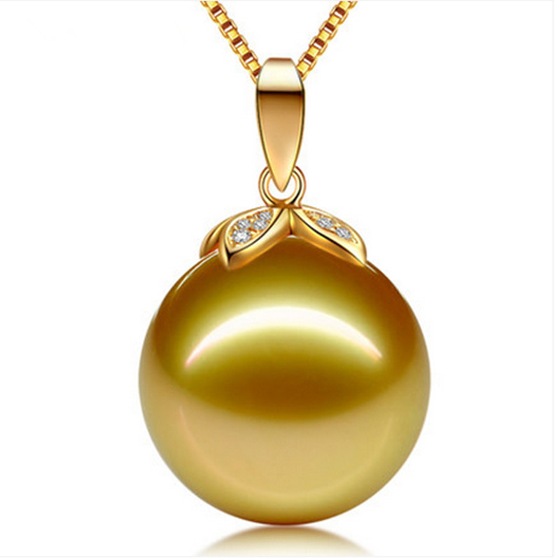 Jewelry natural Pearl Necklace pendant Gold Necklace with Freshwater Seawater Pearl Pendant and Clover Pattern for Mother stylish faux pearl rhinestoned clover shape pendant necklace for women