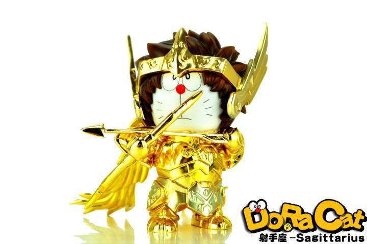 Anime DoraCat Doraemon Cos Saint Seiya Sagittarius PVC Action Figure Collection Model toy