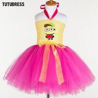 Sevimli Kölelerinin Kız Elbise Cosplay Minion Tutu Elbise Çocuklar Noel Cadılar Bayramı Kostüm Kız Parti Performans Prenses Tül Elbise