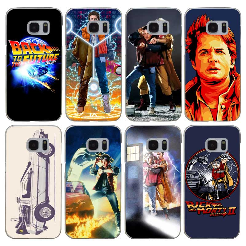 H388 Back To The Future Boy Transparent Hard PC Case Cover For Samsung Galaxy S 3 4 5 6 7 8 Mini Edge Plus Note 3 4 5 8