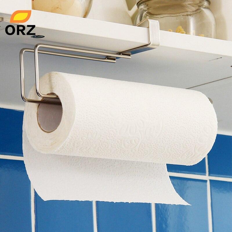 Orz Kitchen Paper Towel Holder Bathroom Toilet Towel Racks Closet Storage Organizer Shelf Kitchen Utensils Fittings Holder Rack Storage Hooksholder Hanger Aliexpress