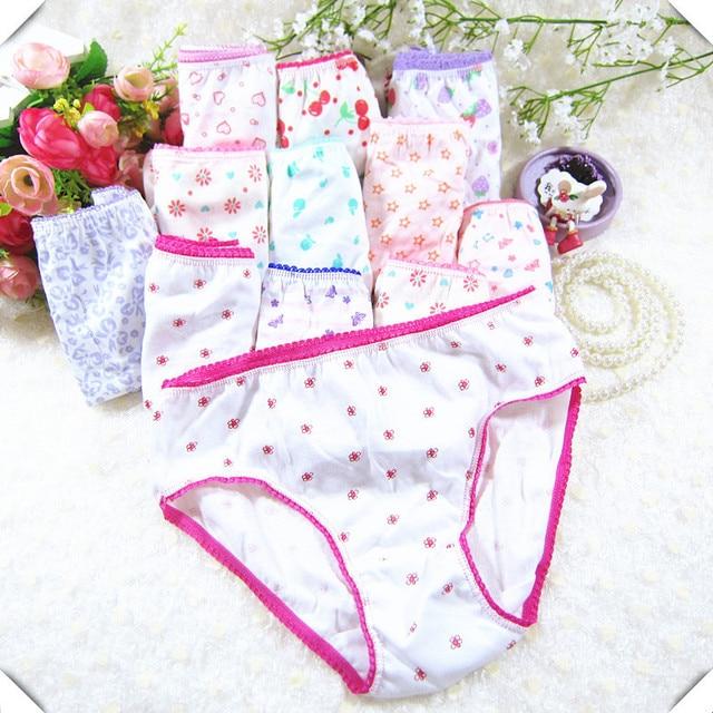 20pcs כותנה ילדי תחתוני תחתוני בנות תינוק מכנסיים חמוד בנות תחתוני מעורב צבע Cueca Infantil