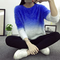 2016 autumn winter cashmere sweater women fashion sexy O-neck women warm sweater loose fluffy women sweaters and pullovers