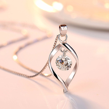 2019 Elegant 925 Sterling Silver AAA Zircon Pendant Necklace