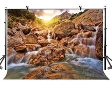 7x5ft Alpine Stream Backdrop Alpine Stream Nature Scenery Photography Background and Studio Photography Backdrop Props сорочка ночная фэст фэст mp002xw1h9zg