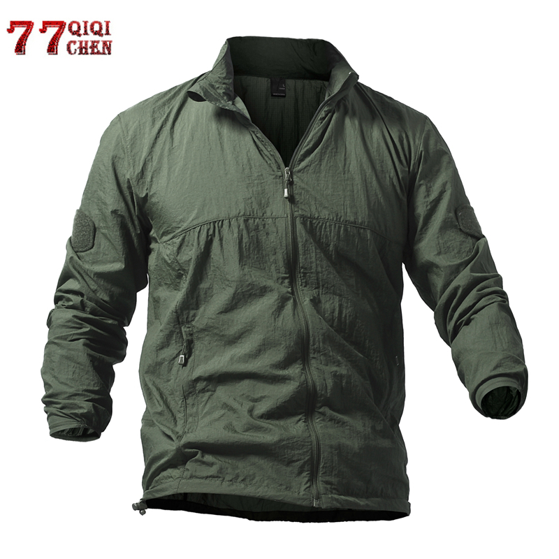 Skin-Jacket Quick-Dry Hooded-Coats Sunscreen Military Army Waterproof Breathable Summer