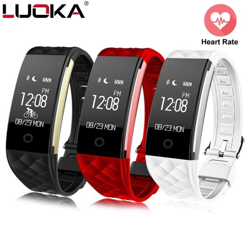 Sport Smart pulsera Monitor de ritmo cardíaco IP67 Fitness pulsera Tracker Smart Wristband Bluetooth para Android IOS PK miband 2