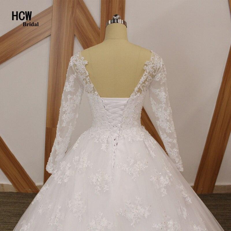 Brīnišķīgas kāzu kleitu ar garām piedurknēm mežģīnes - Kāzu kleitas - Foto 6