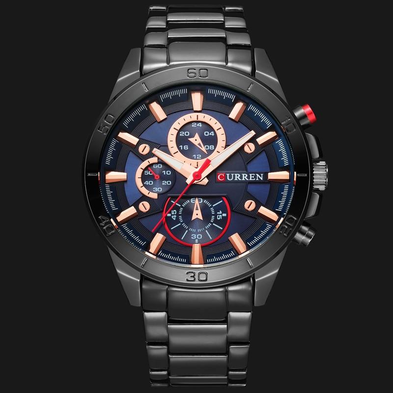 CURREN Luxury Brand Men Watch Fashion Analog Sports Wristwatches Casual Quartz Full Steel Band Male Clock Innrech Market.com