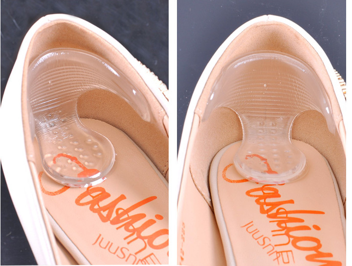 Rearfoot invisible silica gel stickers transparent slip-resistant foot shoes stickers,high heel shoe pad insoles foot care