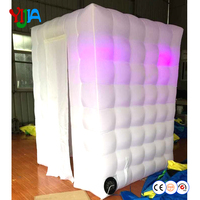 Smaller Cute LED Lighting Inflatable Photo Booth 6ft Portable Photo Booth Cabin Inflatable Backdrop for Wedding Party Fun