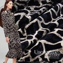 3224c9687 Leopard print velvet silk fabric soft and delicate dress fabric cheongsam  silk velvet fabric wholesale silk cloth 114cm